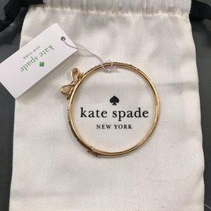 Kate Spade rhinestone mini bow bracelet